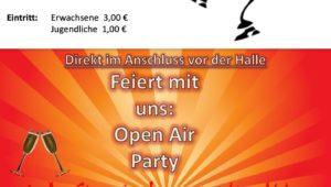 Erfolgreicher Saisonauftakt mit anschließender Open Air Party